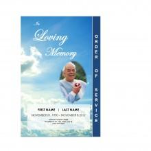 clouds memorial service program template