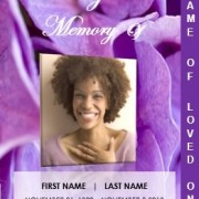 2 Page Graduated Floral Funeral Template