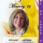 Printable 2 Page Graduated Floral Funeral Template