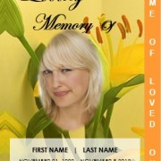 Printable 2 Page Graduated Floral Memorial Service Template