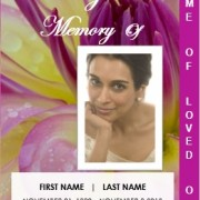 2 Page Graduated Floral Funeral Service Template