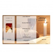 gatefold obituary program template