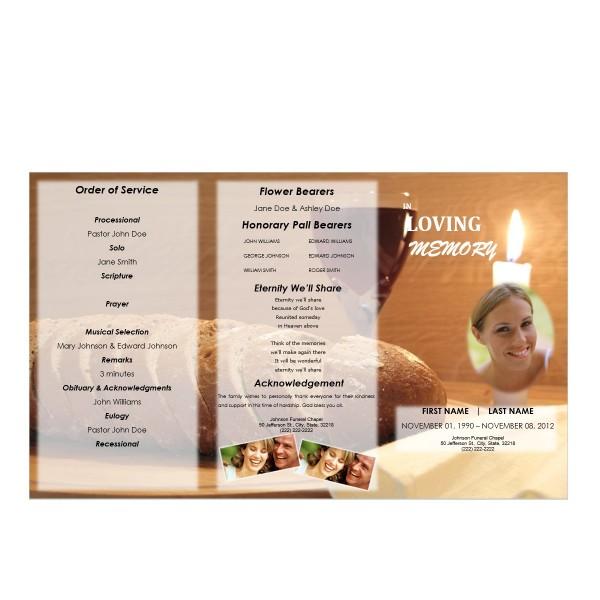 spiritual funeral program template