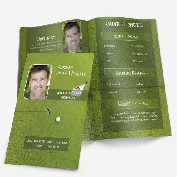 Golf Funeral Program