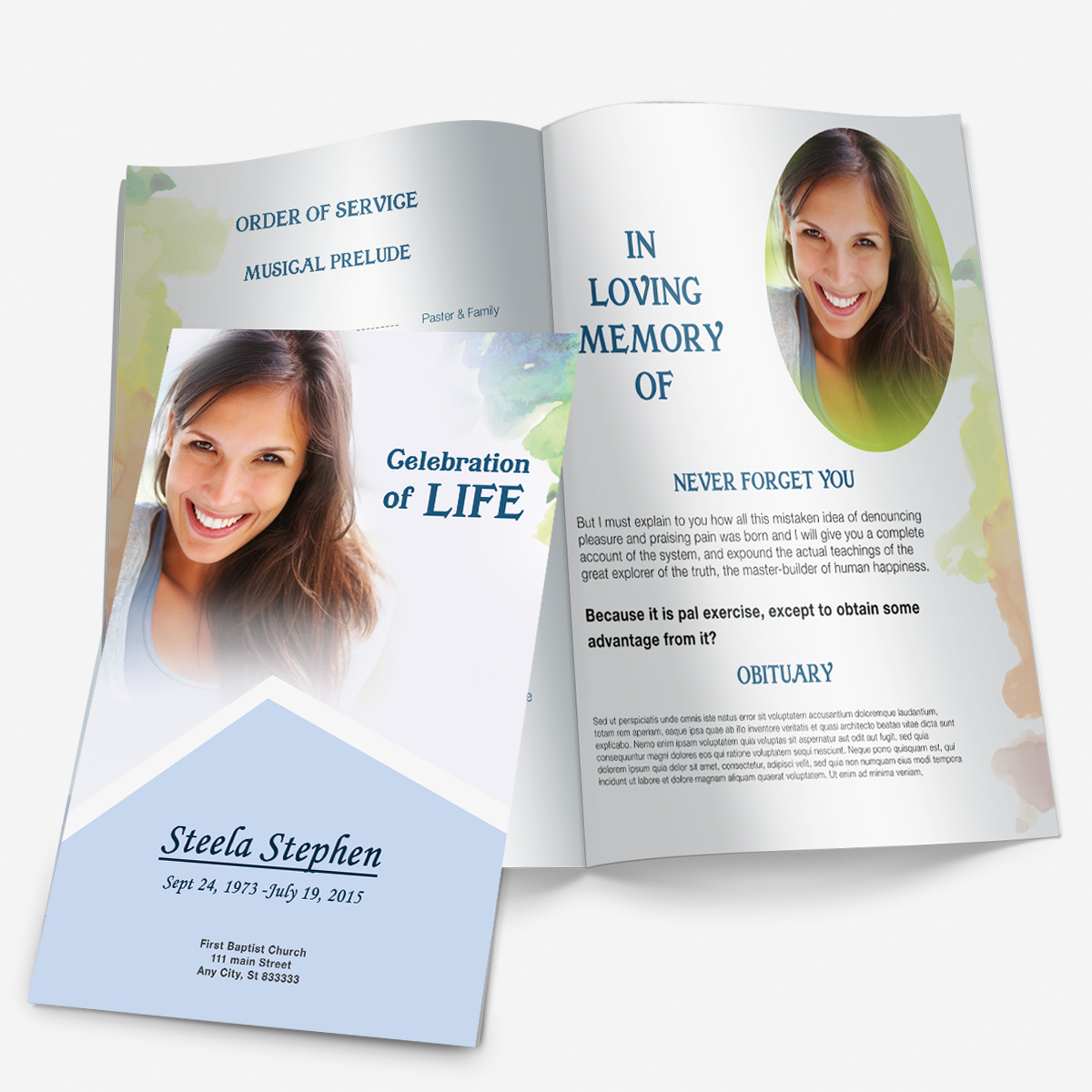 Printable Funeral Programs Funeral Program Template Funeral – Printable Funeral Program Templates