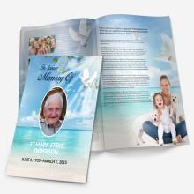 beach funeral template
