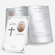 black & white memorial program template