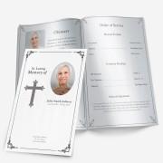 black & white memorial program template