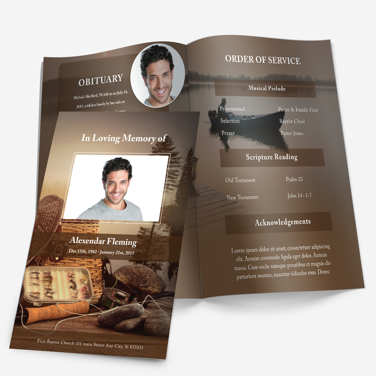 free obituary program template download free obituary