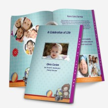 stepfold funeral template for children