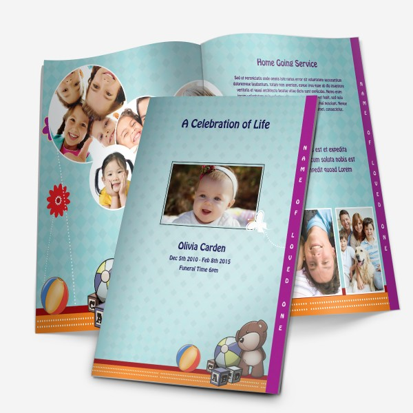 stepfold funeral template for children