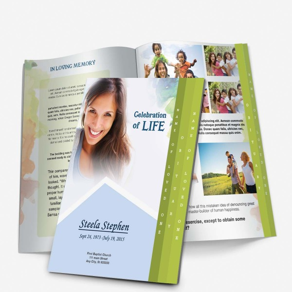 Step Fold Graduated funeral Template