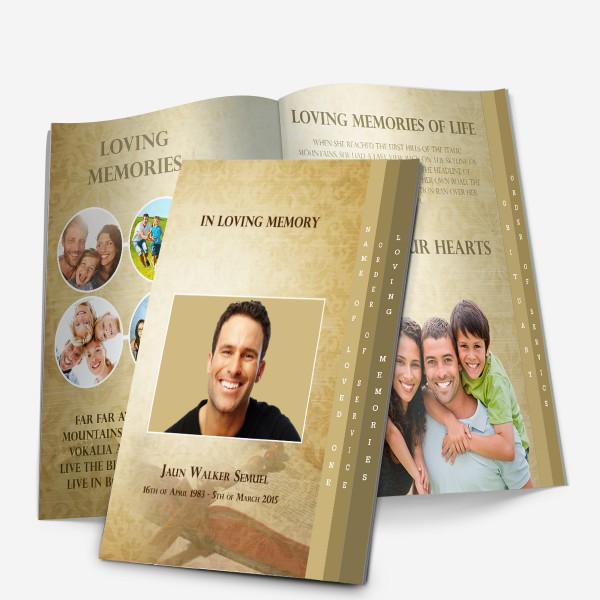4-Page Graduated Memorial Template