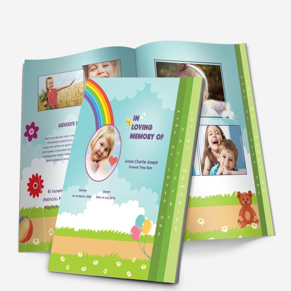 4-Page memorial template