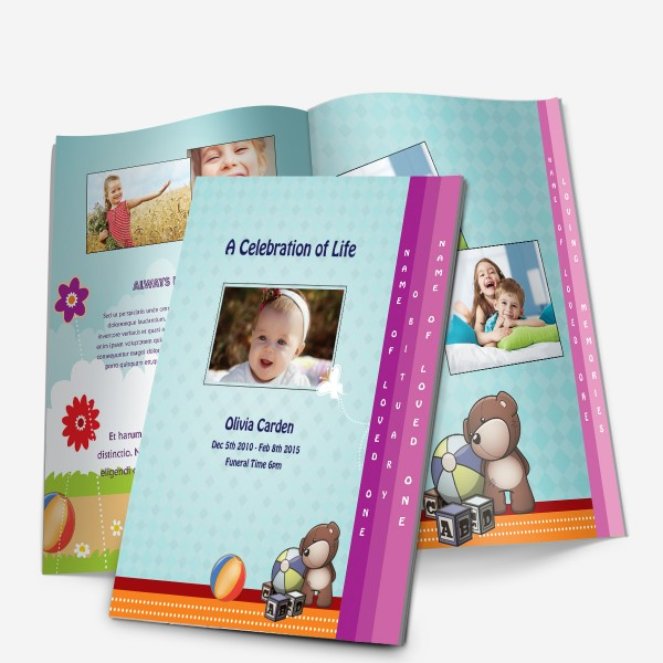 4-Page baby funeral template