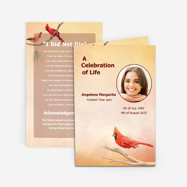 custom funeral cards