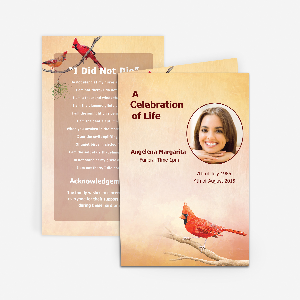 Golf Funeral Card Funeral Pamphlets – Funeral Invitation Card