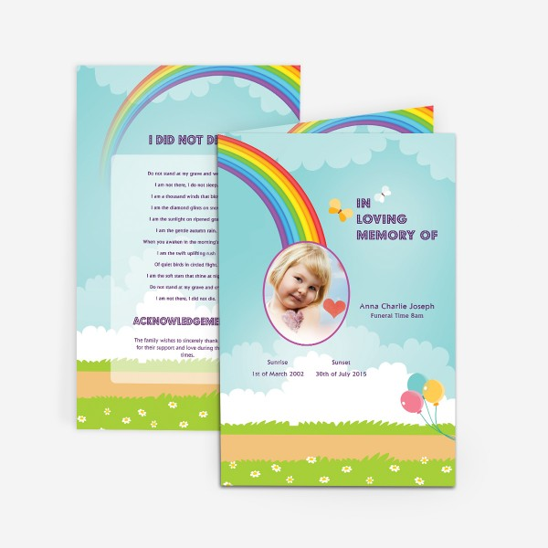 funeral cards for baby