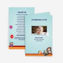 memorial card for baby
