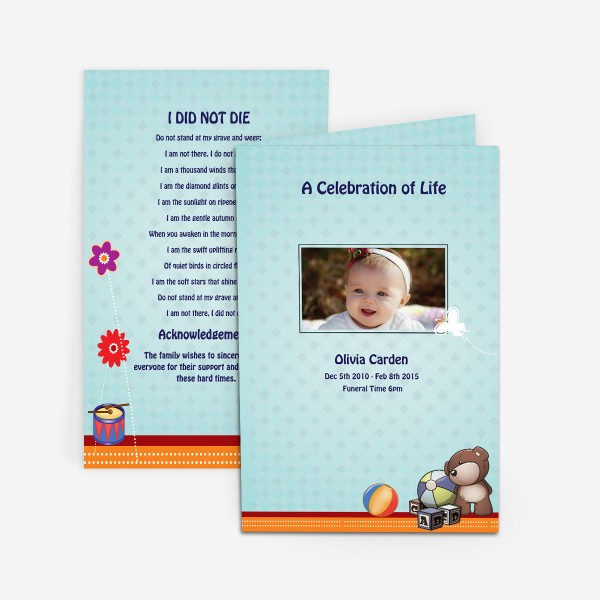 funeral card for child