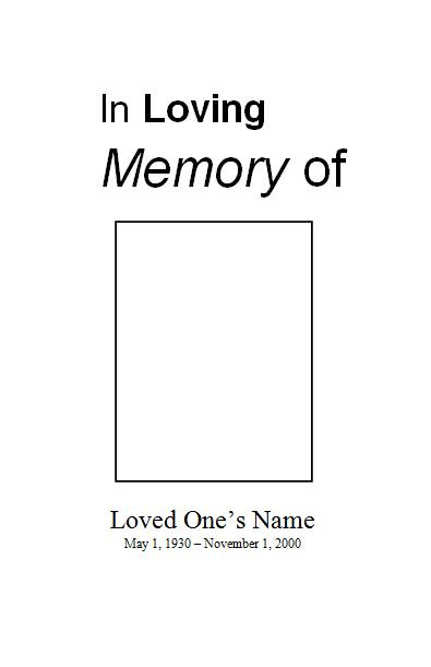 free funeral program template for microsoft word